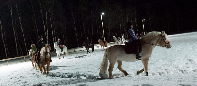 Innvielse av lysanlegg Narvik Rideskole 4. mars 2015