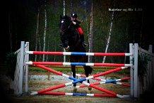 Katrine Nilsen og RU Special på en tidligere sponsorhopping. Her hopper de 1:30.